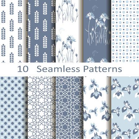 set of ten seamless patterns Stock fotó - 31062028