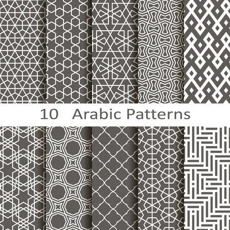 geometric: set of ten Arabic patterns