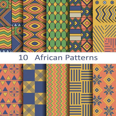 african fashion: set of ten African patterns Illustration
