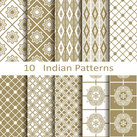 east indian: Set of ten Indian patterns