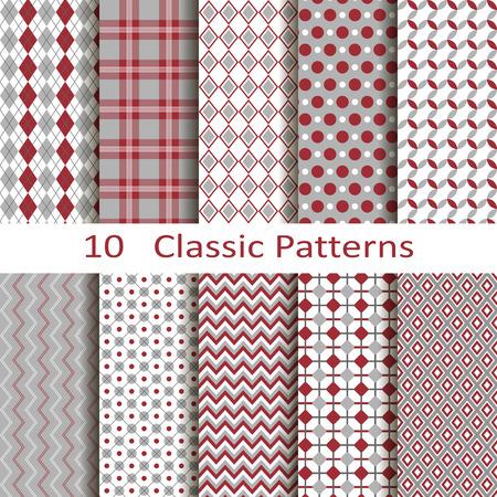 set of ten classic patterns Stock fotó - 32569768