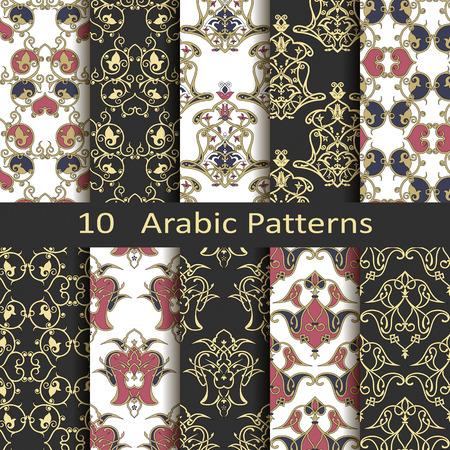 Set of ten arabic patterns Stock fotó - 32815156