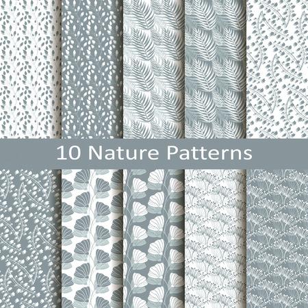 Set of ten nature patterns