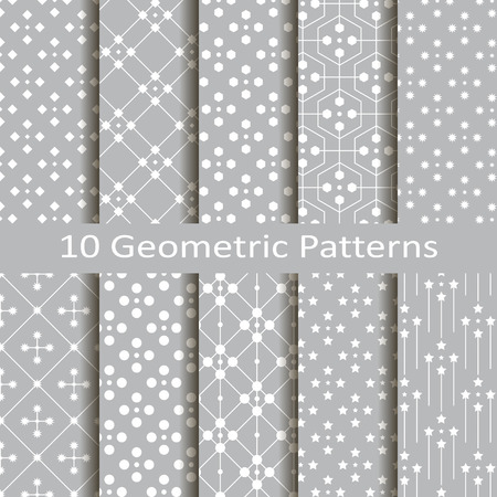 Set of ten geometric patterns Stock fotó - 34872608