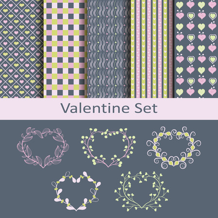 devotion: Valentine set with patterns and stickers