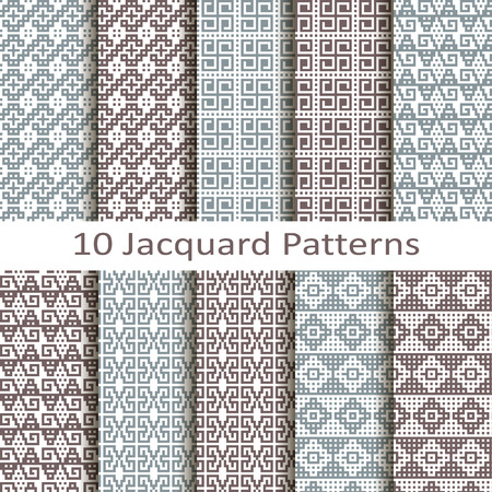 jacquard: Set of ten jacquard patterns Illustration