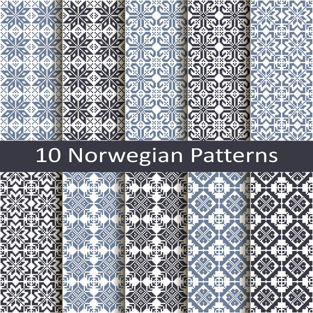 jacquard: Set of ten norwegian patterns
