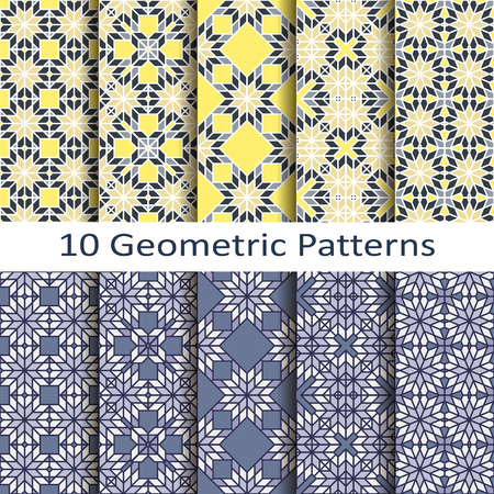 stained: set of ten geometric patterns