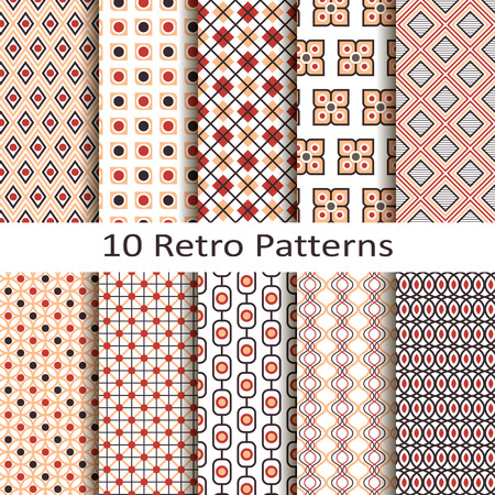 jacquard: Set of ten retro patterns