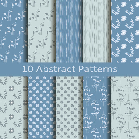Set of ten abstract patterns Stock fotó - 35705933