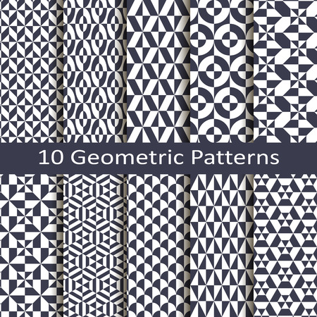 Set of ten geometric patterns Stock fotó - 35705935