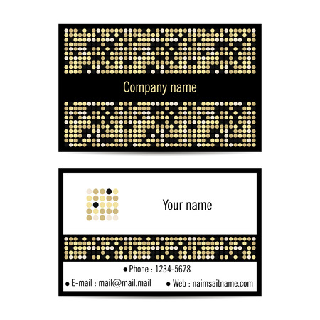 visit: Creative visit card with dotted pattern Illustration