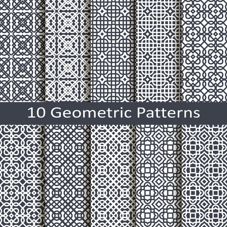 jacquard: set of ten geometric patterns