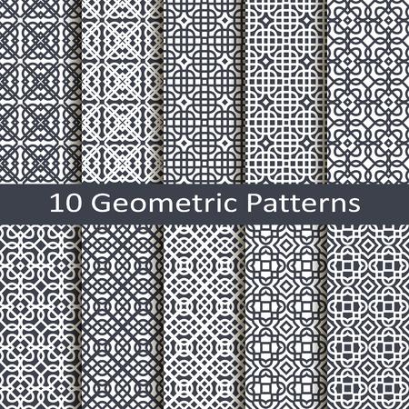 barroco: un conjunto de diez patrones geométricos