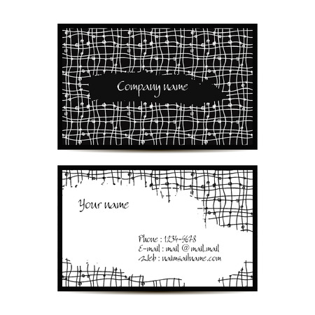 visit card: Creative visit card with lineal pattern