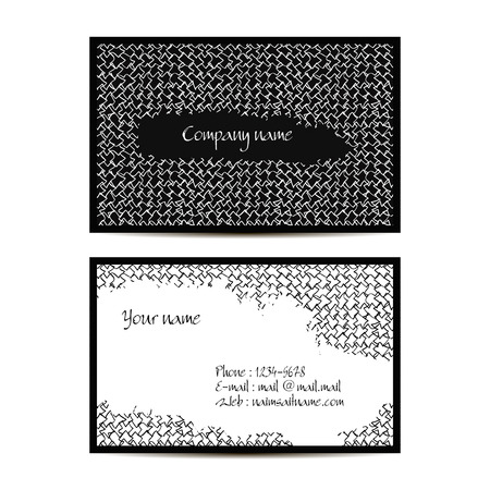 visit: Creative visit card with lineal pattern