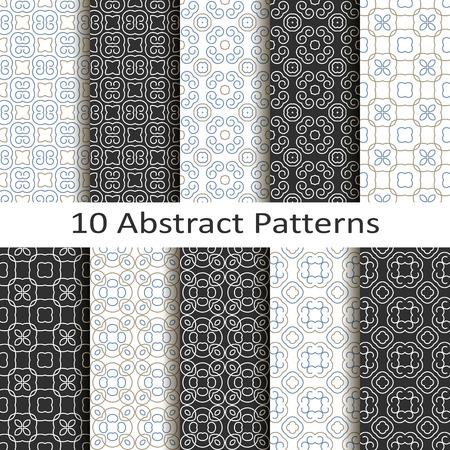 Set of ten abstract patterns Illustration