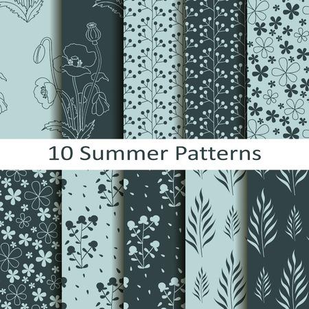 Set of ten summer patterns