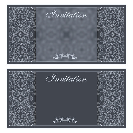 invitation card: Elegant invitation card with flower pattern
