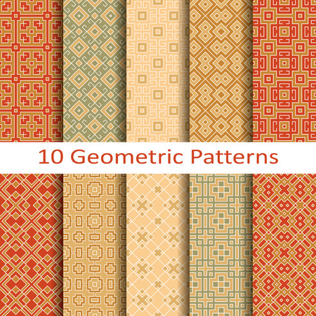interior design: Set of ten geometric patterns