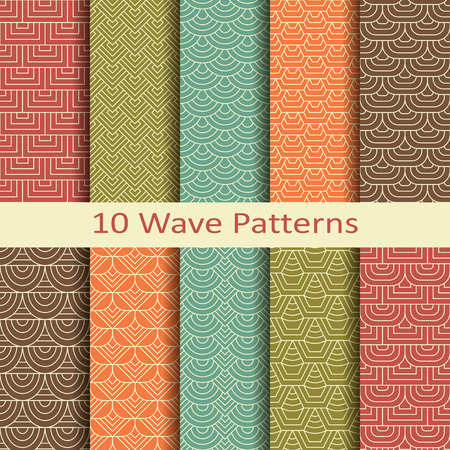 jacquard: Set of ten wave patterns