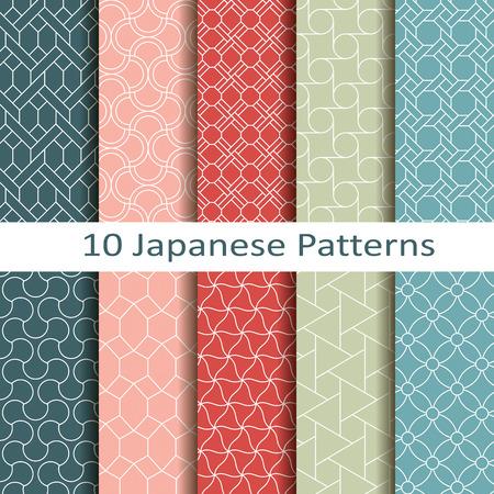 objetos cuadrados: un conjunto de diez patrones japoneses