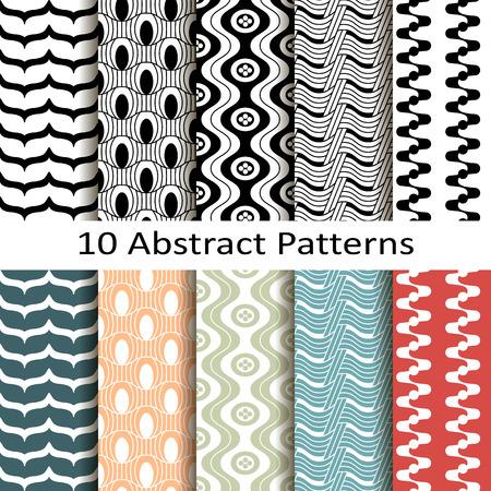 set of ten abstract patterns Stock fotó - 39381878