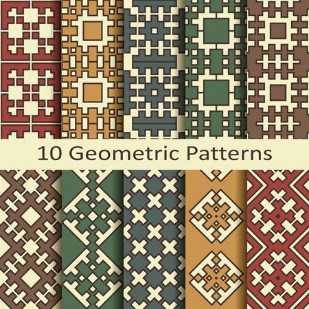 wallpape: Set of ten geometric patterns