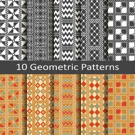 jacquard: set of ten geometric patterns