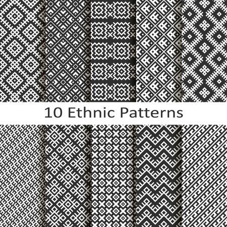 Set of ten ethnic patterns