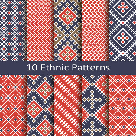 jacquard: set of ten ethnic patterns