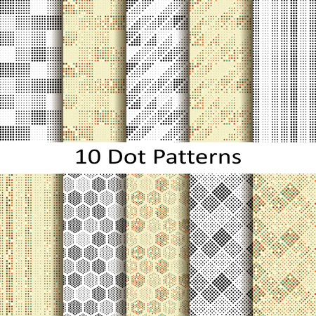 jacquard: set of ten dot patterns