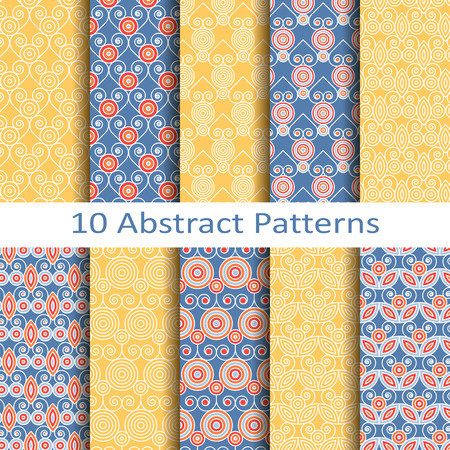abstract patterns: set of ten abstract patterns