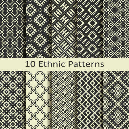 figural: set of ten ethnic patterns