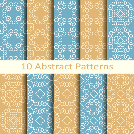 jacquard: set of ten abstract patterns