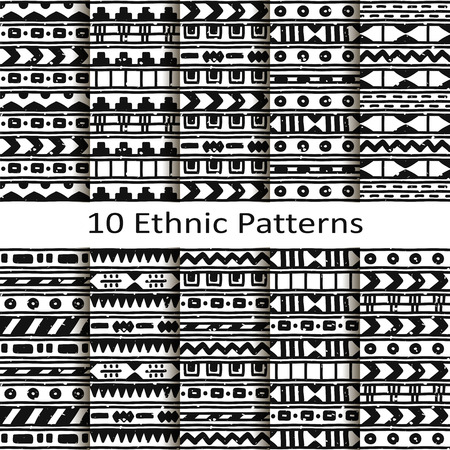 set of ten ethnic patterns Stock fotó - 42650569