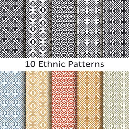 jacquard: set of ten ethnic patterns