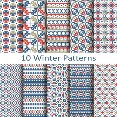 jacquard: set of ten winter patterns