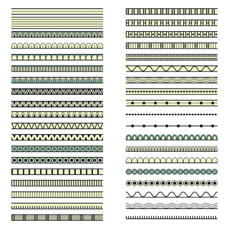 forty: set of forty ethnic decorative elements design