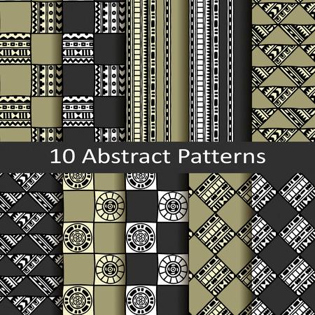 abstract patterns: ensemble de dix motifs abstraits Illustration