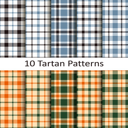 set of ten tartan patterns Stock fotó - 44611944