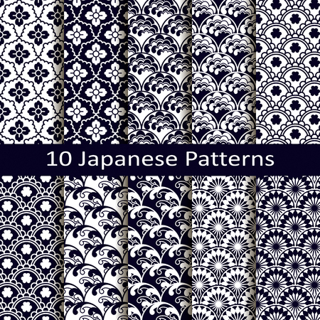 ensemble de dix modèles japonais Illustration