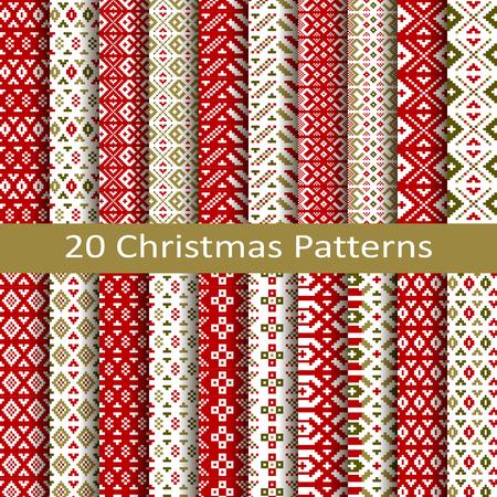 set of twenty christmas patterns
