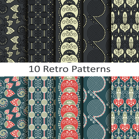 retro patterns: set of ten retro patterns