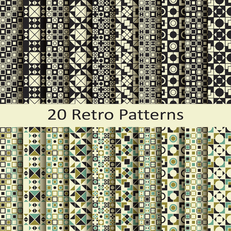 retro patterns: set of twenty retro patterns