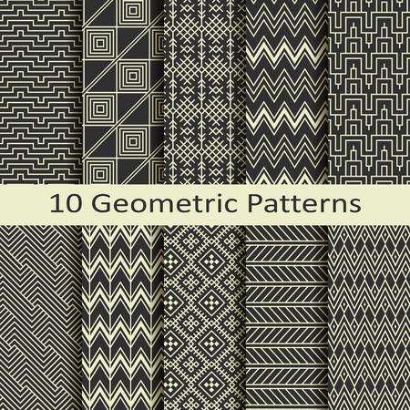 figural: Set of ten geometric patterns