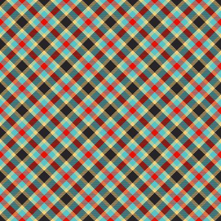 traditional tartan jacquard colorful pattern Illustration