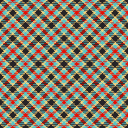 jacquard: traditional tartan jacquard colorful pattern Illustration