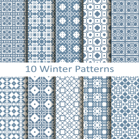 cold pack: set of ten winter patterns