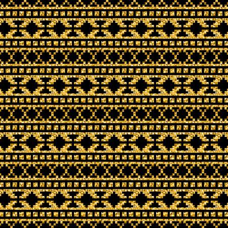 vector golden geometric modern pattern